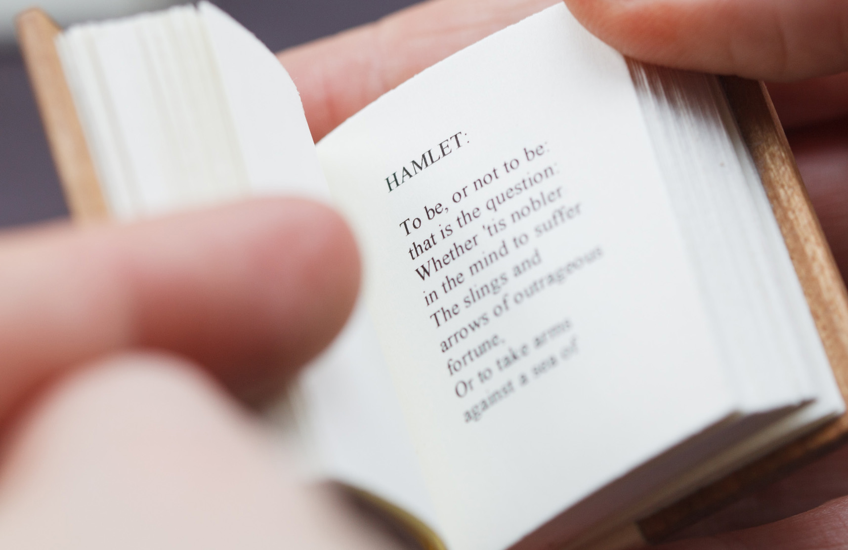 Miniature book of Hamlet
